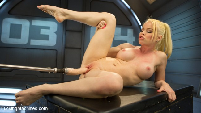 Sexy Blonde Babe Gets Robot Fucked For The First Time - Nikki Delano
