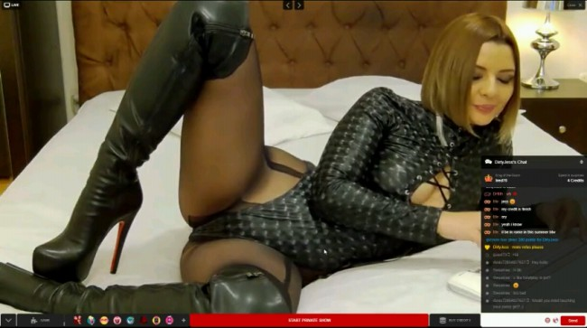 Thigh Booted Cam Girl
