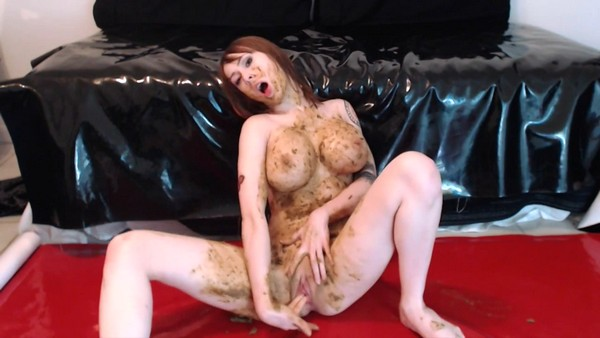PVC and Scat Couple (aka Jessica) - Cumming HARD with Shit in my mouth! (2019 / FullHD 1080p)