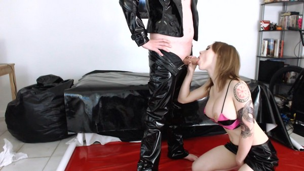 PVC and Scat Couple (aka Jessica) - Scat Sex, Blowjob, and Foot Fetish Fun (2019 / FullHD 1080p)