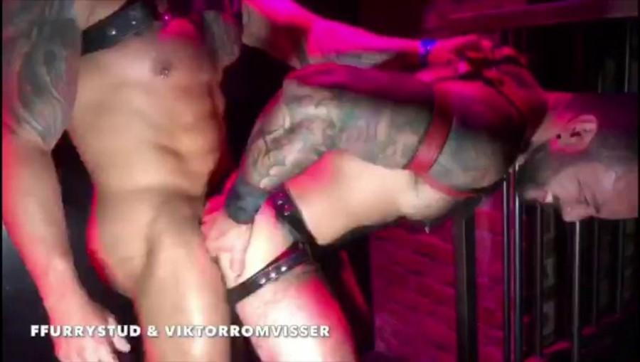 RawFuckClub - Viktor Rom & FFurryStud - Sex Show in the Hustlaball