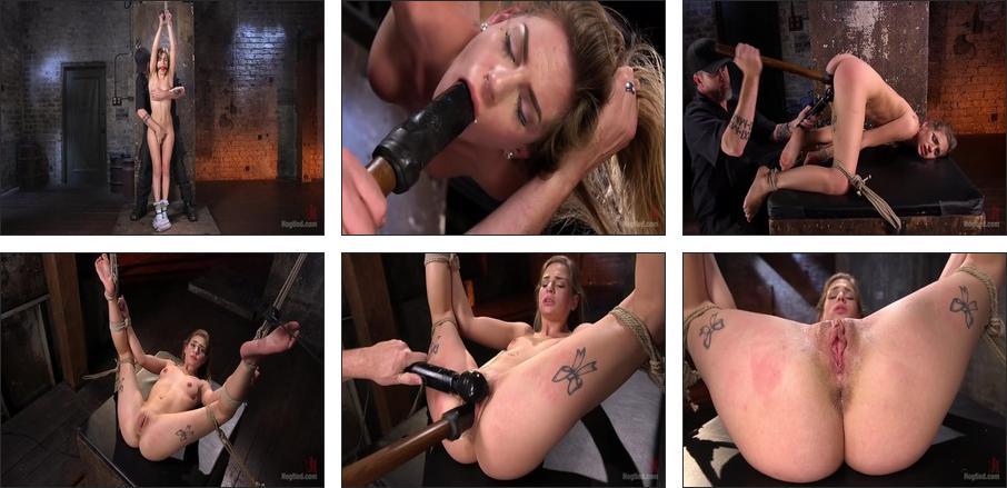 Hot Petite Blonde Surrender to Devastating Bondage and Torment, Scene 1