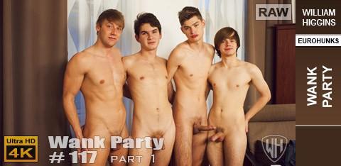 WilliamHiggins - Wank Party #117 Part 1 RAW - Alexandr Jander, Ben Stolar, Dave Swanson, Simon Paldov