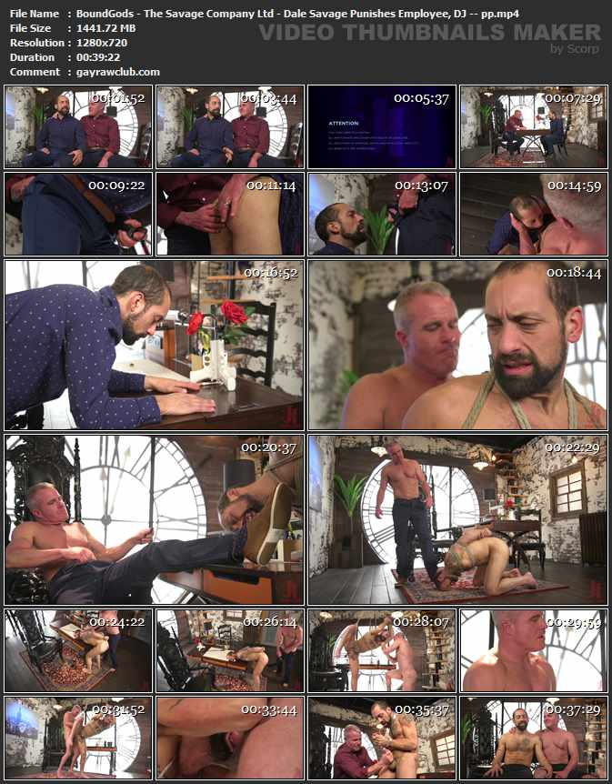 BoundGods - The Savage Company Ltd - Dale Savage Punishes Employee, DJ