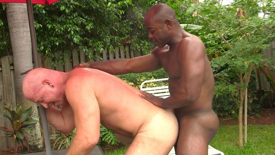 HotOlderMale - Ebony muscle top Aaron Trainer pounds Adam Clay's Daddy Hole - Aaron Trainer, Adam Clay