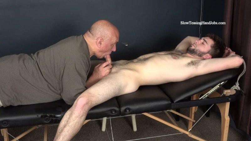 SlowTeasingHandjobs - Vinnys First Male Blowjob