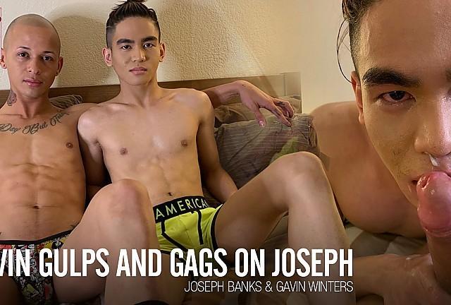 CumPigMen - Gavin Winters Gulps and Gags on Joseph Banks