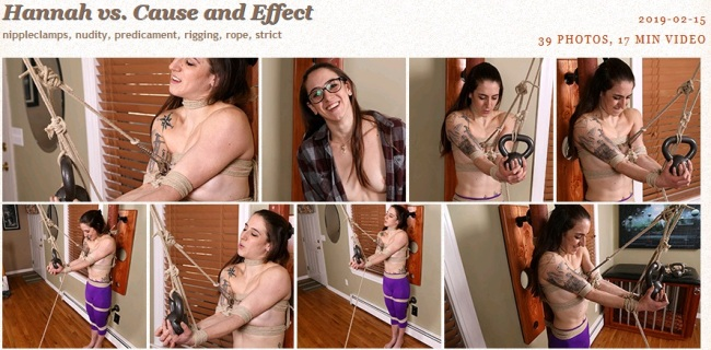 Hannah vs. Cause and Effect - 2019-02-15 - Bondage Video