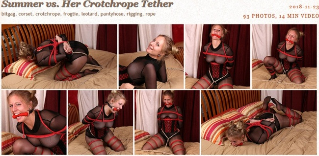 Summer vs. Her Crotchrope Tether