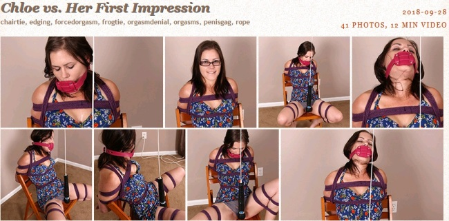 Chloe vs. Her First Impression - Bondage Video