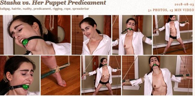 Stasha vs. Her Puppet Predicament - Bondage Video