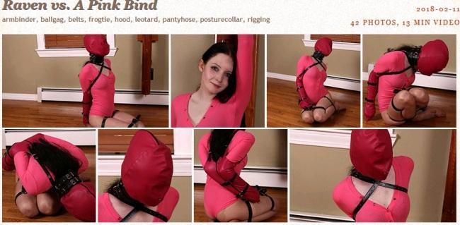 Raven vs. A Pink Bind - Bondage Video