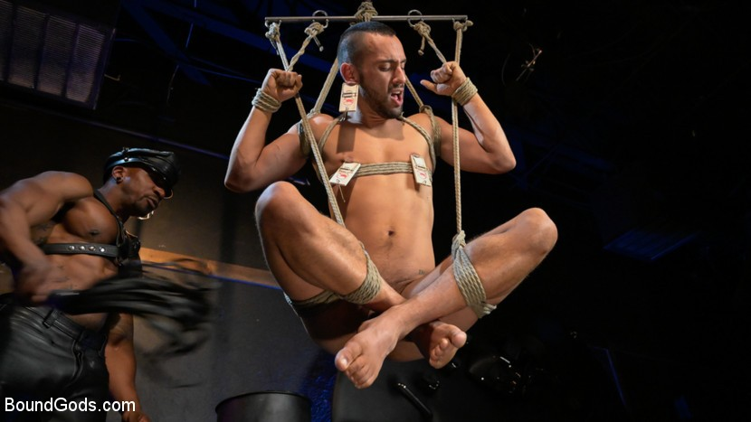 BoundGods - Rat in a Cage - Chance Summerlin Serves Leather Muscle God Max Konnor