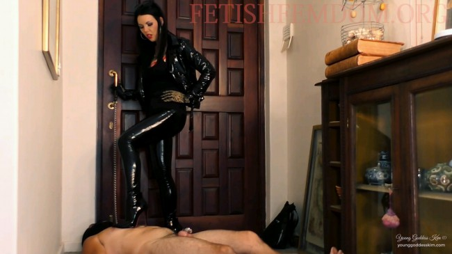 Doormat In Chastity - Boots Fetish HD Video - Young Goddess Kims Fantasies