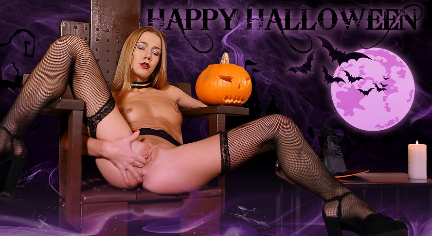 Naughty Minx Has Special Sex Treat for Halloween, Alexis Crystal, October 31, 2017, 3d vr porno, HQ 1920