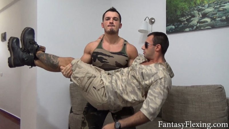 TheBestFlex - FantasyFlexing - Sexy Soldier Strength Tests to Promote