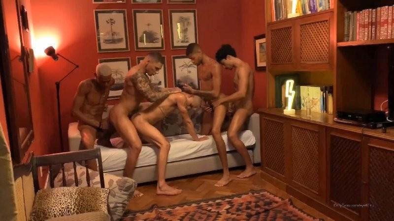 OnlyFans - Brazilian Orgy - Rhyheim Shabazz, Leon Reddz, Italo, Yuri, Victor & Estevao