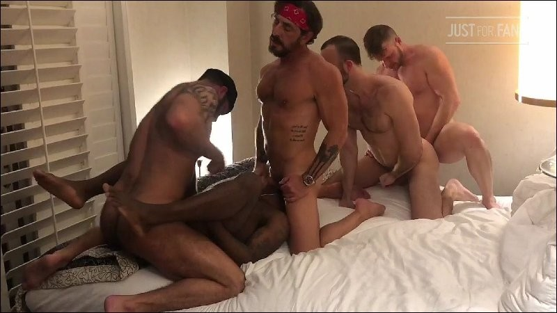 JustForFans - Hotel 5Way with Brian Bonds, Mason Lear, Micah Martinez,Vince Parker and Jake Nicola