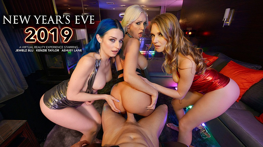 New Year´s Eve 2019, Jewelz Blu, Kenzie Taylor, Ashley Lane, December 31, 2019, 3d vr porno, HQ 2048