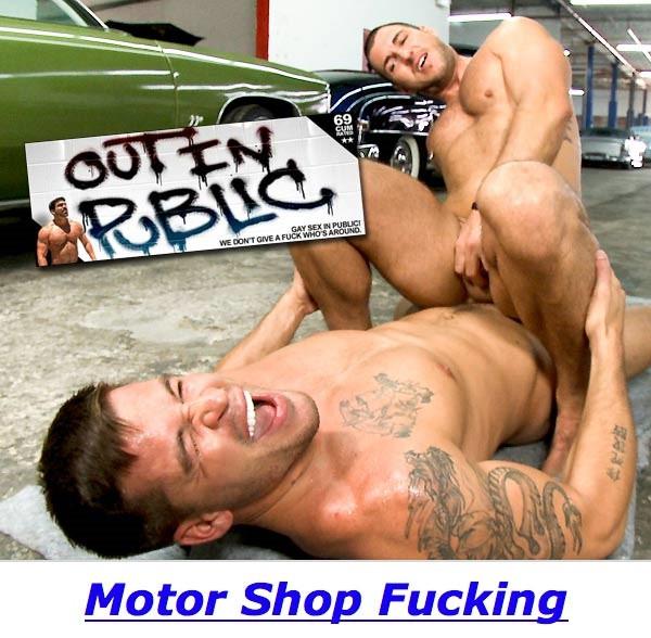 OutInPublic - Motor Shop Fucking - Parker & Broidie Sinclair