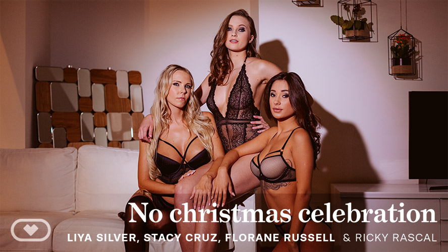 No christmas celebration, Florane Russell, Liya Silver, Stacy Cruz, Dec 27, 2019, 5k 3d vr porno, HQ 2700