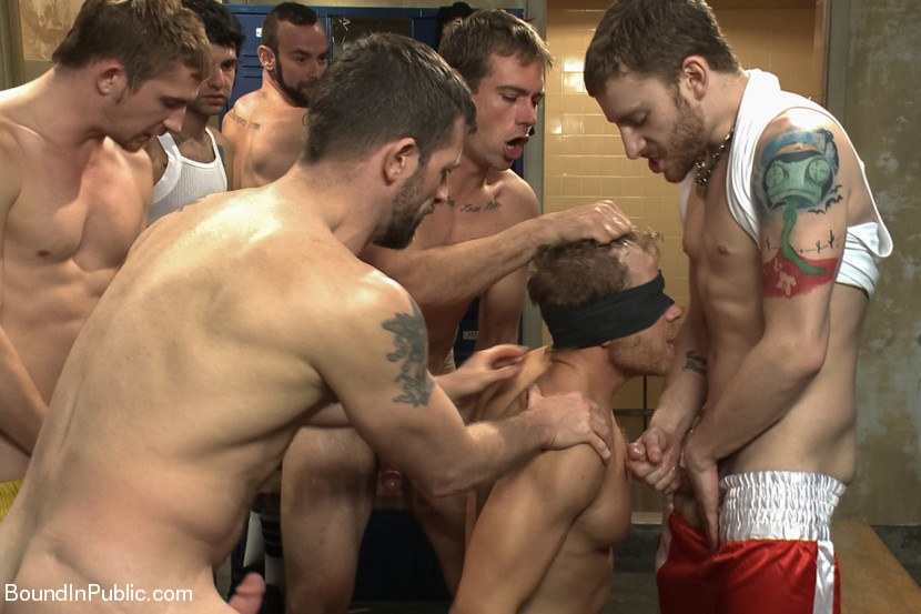 BoundInPublic - Alex Adams - Loudmouth Gym Freak Fucked and Pissed on in Boxing Gym Locker Room 29520