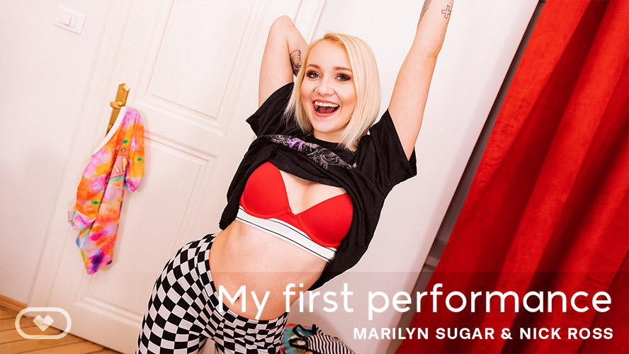My First Performance, Marilyn Sugar, Feb 19, 2020, 5k 3d vr porno, HQ 2700