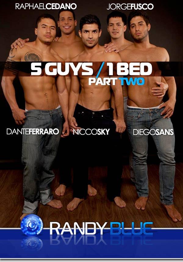RandyBlue - RB2384 - 5 Guys, 1 Bed part 2 - Dante Ferraro, Diego Sans, Jorge Fusco, Nicco Sky & Raphael Cedano