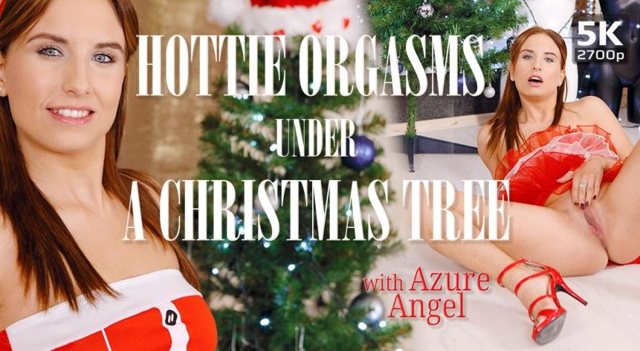 Hottie orgasms under a Christmas tree, Azure Angel, December 20, 2019, 5k 3d vr porno, HQ 2700