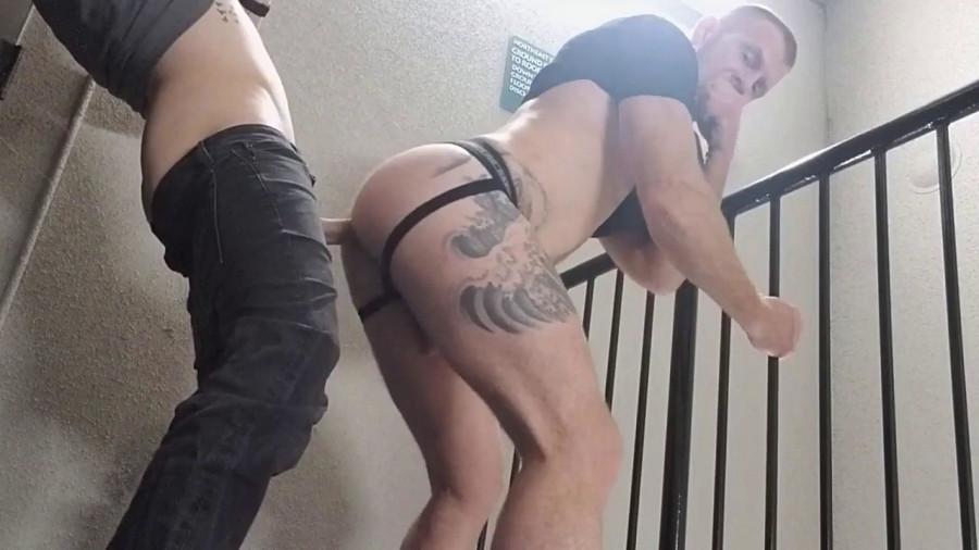 RawFuckClub - Jack Vidra - Dillon Anderson stairwell fuck