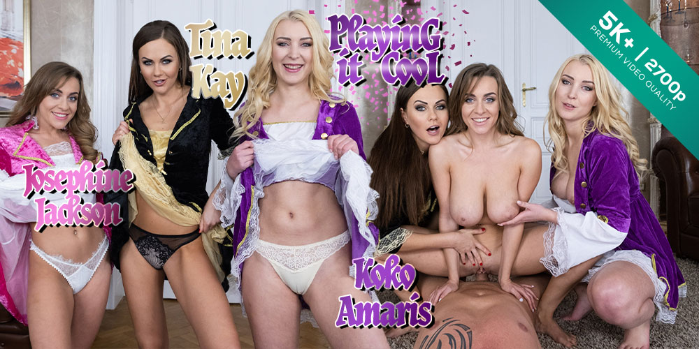 Playing it Cool, Josephine Jackson, Koko Amaris, Tina Kay, 07 Dec 2019 , 5k 3d vr porno, HQ 2700