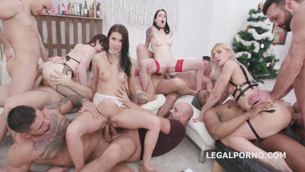 WTFucking XMAS 3 - Anna de Ville, Nicole Black, Sindy Rose Natalie Mars Orgy with DAP, TAP, Gapes...