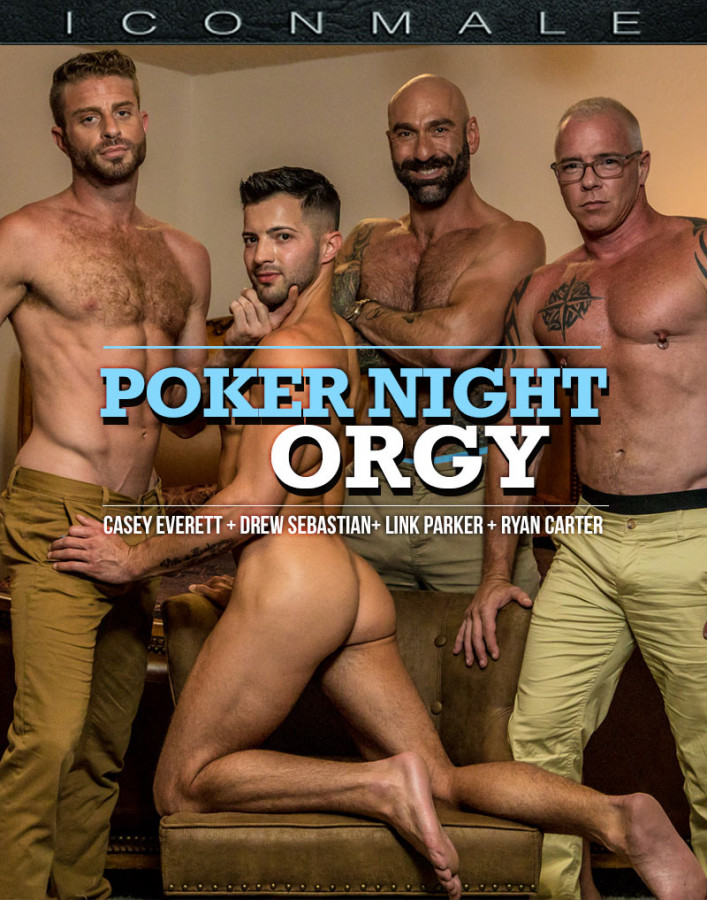 IconMale - Casey Everett, Link Parker, Ryan Carter, Drew Sebastian - Poker Night Orgy