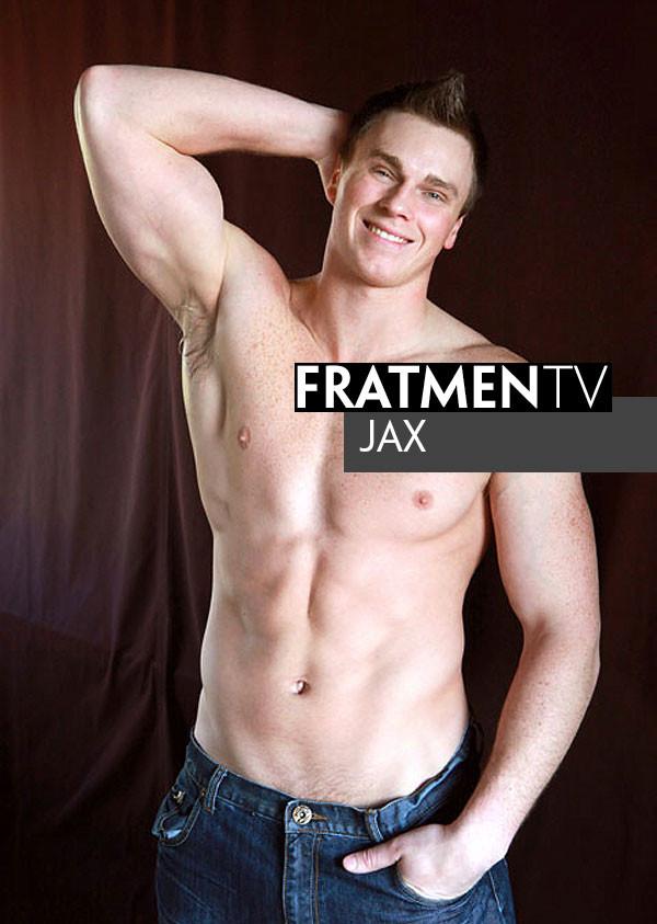 FratMen - Jax - Tall Naked Motorcycle Stud