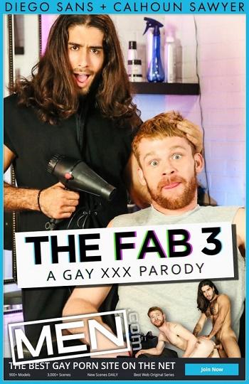 MEN - Diego Sans & Calhoun Sawyer - Fab 3 Part 1 - A Gay XXX Parody