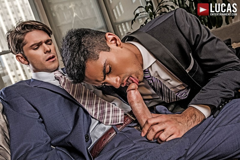 LucasEntertainment - Devin Franco And Lee Santino Flip-Fuck In Suits