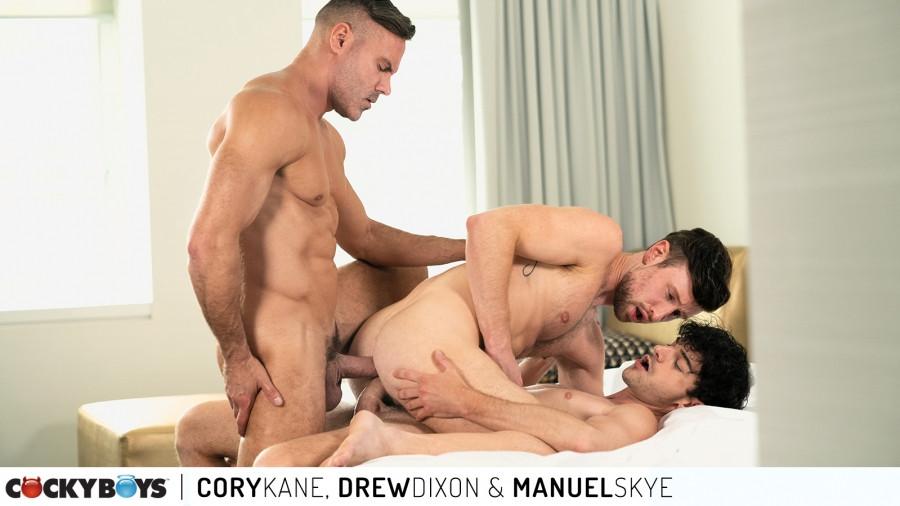 CockyBoys - Cory Kane, Drew Dixon & Manuel Skye