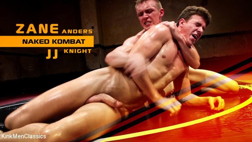 KinkMenClasic - JJ Knight vs Zane Anders - Southern Boys with Giant Cocks Wrestling