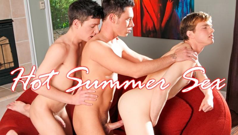 NextDoorTwink - Hot Summer Sex - Colby Harris, Stephen Charles, Ezra Taylor