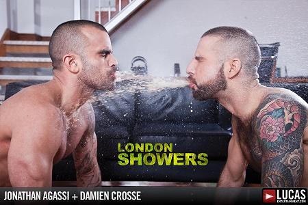 LR - London Showers Scene 5 - Damien Crosse Douses Jonathan Agassi