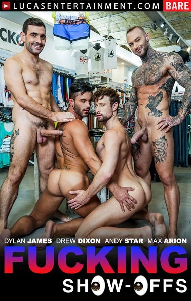 LucasEntertainment - Max Arion, Dylan James, Andy Star And Drew Dixons Hot, Sweaty Retail Trip