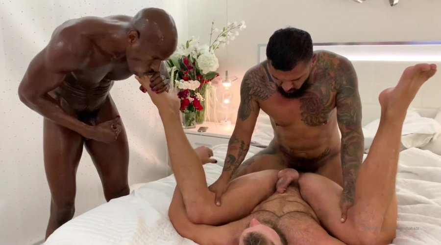 OnlyFans - Rhyheim Shabazz - New Threesome with Boomer Banks and Morgan Thicke