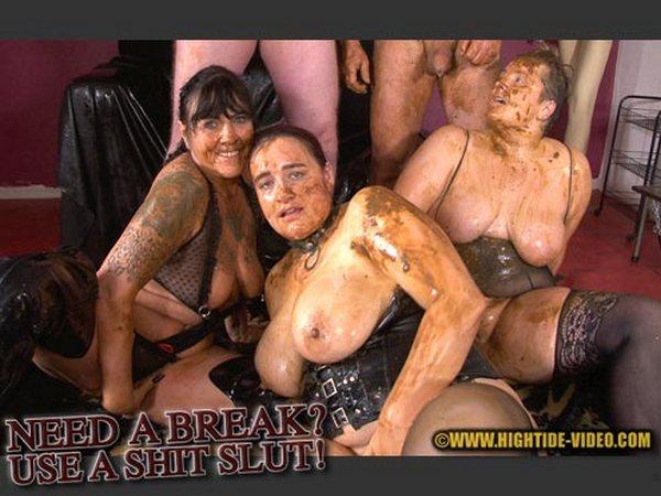 Stella, Daria, Penelope and 2 males - Need a Break Use a Shit Slut (HD 720p)