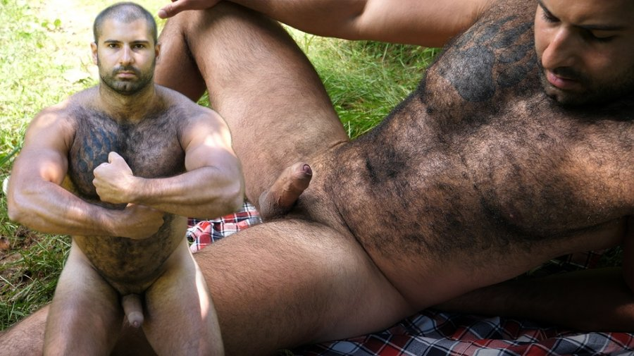 TheGuySite - Andrei - Naked Russian Bear in the Woods