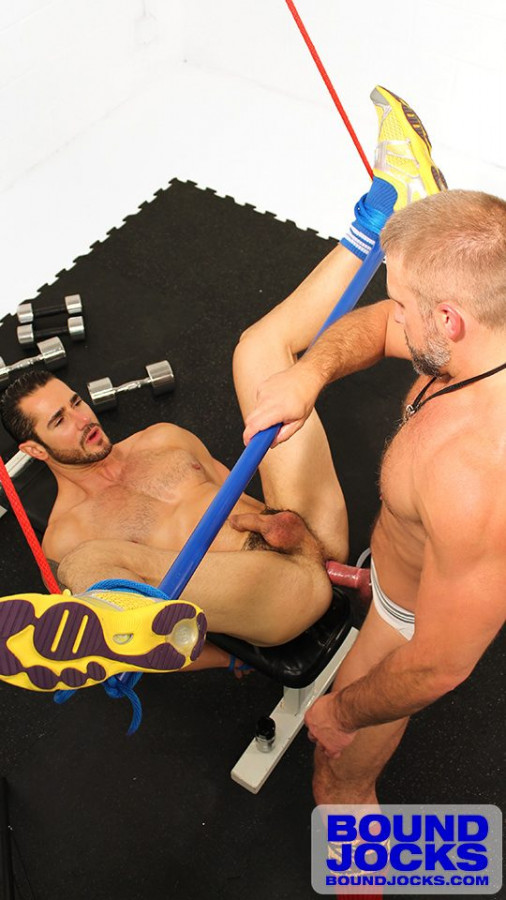 BoundJocks - Dirk Caber Flogs Leo Forte