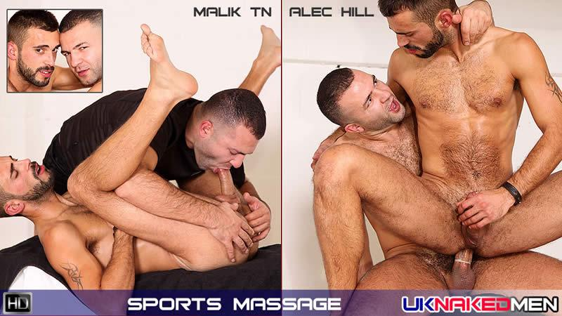 UKnakedMen - Malik TN & Alec Hill - Sports Massage
