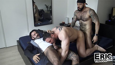 EricVideos - Gabriel, Julian Torres, Teddy - On all fours hes waiting for 2 big cocks