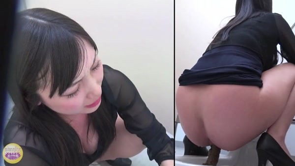 Pooping Japanese women in a public toilet and different angles - 3 [HD 720p]