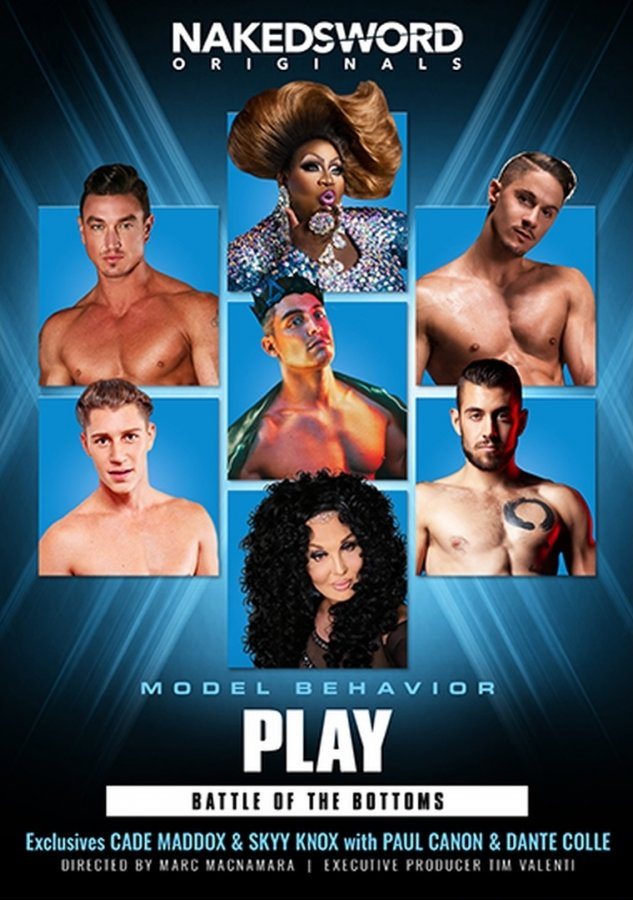 NakedSword - Model Behavior - Play - Battle Of The Bottoms - Cade Maddox, Dante Colle, Paul Canon, Skyy Knox