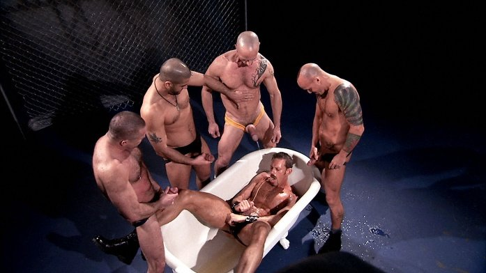 TitanMen - Fist and Piss - Chase Alters, Clay Donovan, Colin Steele, Peter Axel, Tony Buff
